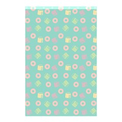 Teal Donuts And Milk Shower Curtain 48  X 72  (small)  by snowwhitegirl