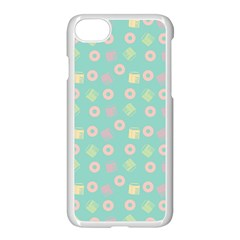 Teal Donuts And Milk Apple Iphone 7 Seamless Case (white) by snowwhitegirl