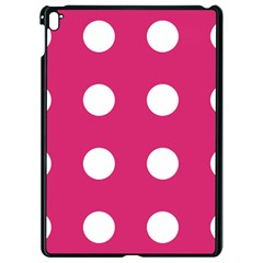 Pink Dot Apple Ipad Pro 9 7   Black Seamless Case by snowwhitegirl