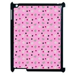 Pink Milk Hearts Apple Ipad 2 Case (black) by snowwhitegirl