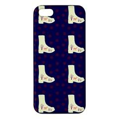 Navy Boots Apple Iphone 5 Premium Hardshell Case by snowwhitegirl