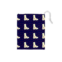 Navy Boots Drawstring Pouches (small)  by snowwhitegirl
