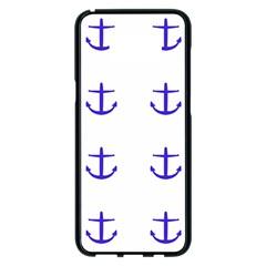 Royal Anchors On White Samsung Galaxy S8 Plus Black Seamless Case by snowwhitegirl