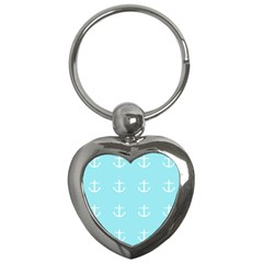 Aqua Anchor Key Chains (heart)  by snowwhitegirl