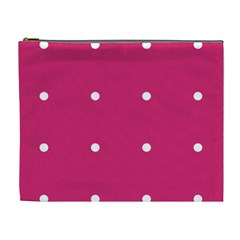 Small Pink Dot Cosmetic Bag (xl) by snowwhitegirl