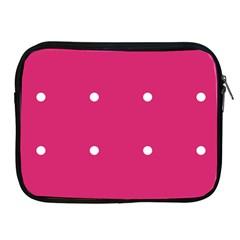 Small Pink Dot Apple Ipad 2/3/4 Zipper Cases by snowwhitegirl