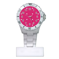 Small Pink Dot Plastic Nurses Watch by snowwhitegirl