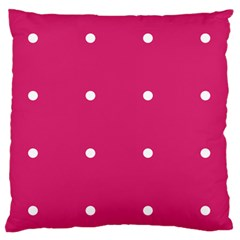 Small Pink Dot Standard Flano Cushion Case (one Side) by snowwhitegirl
