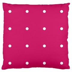 Small Pink Dot Standard Flano Cushion Case (two Sides) by snowwhitegirl