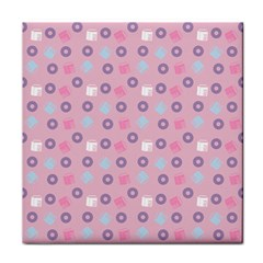 Milk And Donuts Pink Tile Coasters by snowwhitegirl