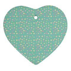 Light Teal Hearts Heart Ornament (two Sides) by snowwhitegirl