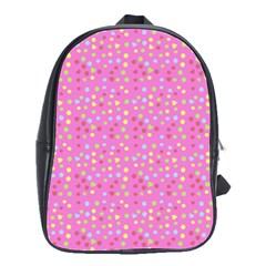 Pink Heart Drops School Bag (large) by snowwhitegirl