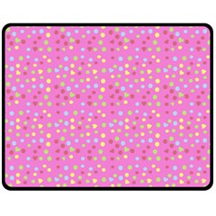 Pink Heart Drops Fleece Blanket (medium)  by snowwhitegirl