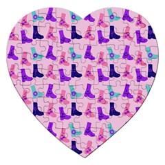 Candy Boots Jigsaw Puzzle (heart) by snowwhitegirl