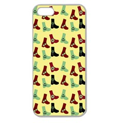 Yellow Boots Apple Seamless Iphone 5 Case (clear) by snowwhitegirl