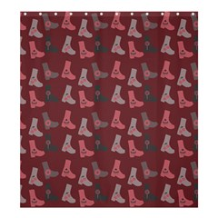 Rosegrey Boots Shower Curtain 66  X 72  (large)  by snowwhitegirl