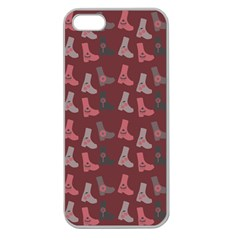 Rosegrey Boots Apple Seamless Iphone 5 Case (clear) by snowwhitegirl