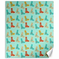 Blue Orange Boots Canvas 20  X 24   by snowwhitegirl