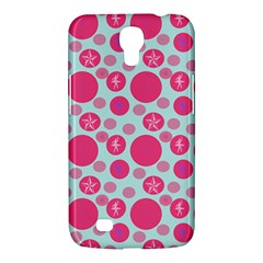 Blue Retro Dots Samsung Galaxy Mega 6 3  I9200 Hardshell Case by snowwhitegirl