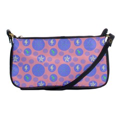 Pink Retro Dots Shoulder Clutch Bags by snowwhitegirl