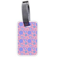 Pink Retro Dots Luggage Tags (one Side)  by snowwhitegirl