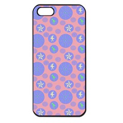 Pink Retro Dots Apple Iphone 5 Seamless Case (black) by snowwhitegirl