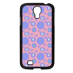Pink Retro Dots Samsung Galaxy S4 I9500/ I9505 Case (black) by snowwhitegirl