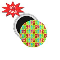 Colorful Robots 1 75  Magnets (100 Pack)  by snowwhitegirl