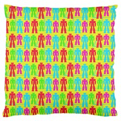 Colorful Robots Standard Flano Cushion Case (two Sides) by snowwhitegirl