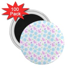 Cats And Flowers 2 25  Magnets (100 Pack)  by snowwhitegirl