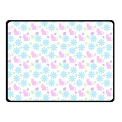 Cats And Flowers Double Sided Fleece Blanket (small)  by snowwhitegirl