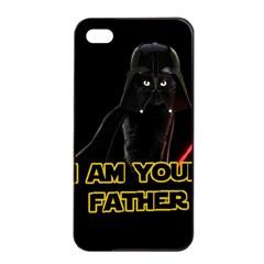 Darth Vader Cat Apple Iphone 4/4s Seamless Case (black) by Valentinaart