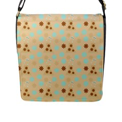 Beige Dress Flap Messenger Bag (l)  by snowwhitegirl