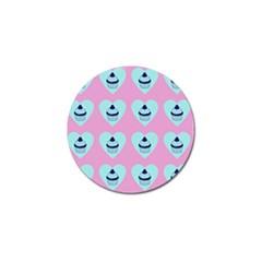 Cupcakes In Pink Golf Ball Marker (10 Pack) by snowwhitegirl