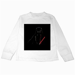 Darth Vader Cat Kids Long Sleeve T Shirts by Valentinaart