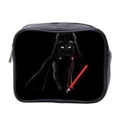 Darth Vader Cat Mini Toiletries Bag 2 Side by Valentinaart