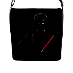 Darth Vader Cat Flap Messenger Bag (l)  by Valentinaart