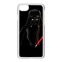Darth Vader Cat Apple Iphone 8 Seamless Case (white) by Valentinaart