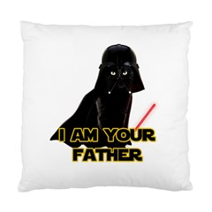 Darth Vader Cat Standard Cushion Case (one Side) by Valentinaart