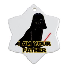 Darth Vader Cat Snowflake Ornament (two Sides) by Valentinaart