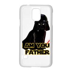 Darth Vader Cat Samsung Galaxy S5 Case (white) by Valentinaart