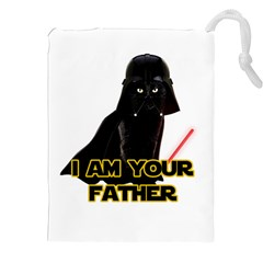 Darth Vader Cat Drawstring Pouches (xxl) by Valentinaart