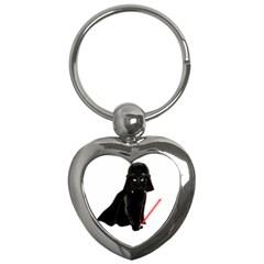 Darth Vader Cat Key Chains (heart)  by Valentinaart