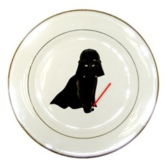 Darth Vader Cat Porcelain Plates by Valentinaart