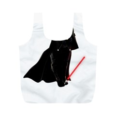 Darth Vader Cat Full Print Recycle Bags (m)  by Valentinaart