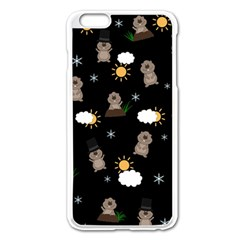 Groundhog Day Pattern Apple Iphone 6 Plus/6s Plus Enamel White Case by Valentinaart