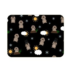 Groundhog Day Pattern Double Sided Flano Blanket (mini)  by Valentinaart