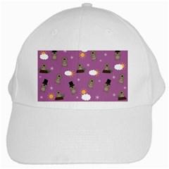 Groundhog Day Pattern White Cap by Valentinaart