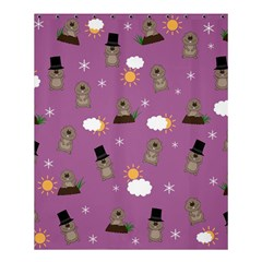 Groundhog Day Pattern Shower Curtain 60  X 72  (medium)  by Valentinaart