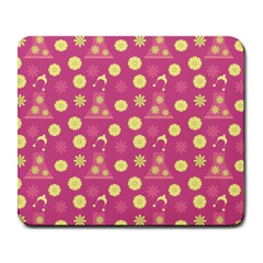 Yellow Flowers Dress Large Mousepads by snowwhitegirl